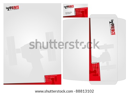template of stationary design - stock vector