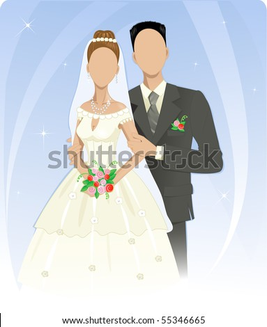 Template of wedding couple