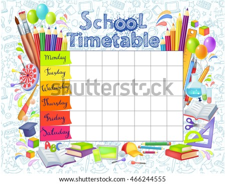 how to make timetbale for weekly activities