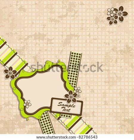 Template scrap card, vector illustration, eps10 - stock vector