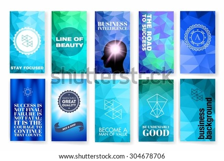 Template. Set of poster, flyer, brochure design templates. Colorful background.  Vector brochure design templates collection. Applications and Infographic Concept.
