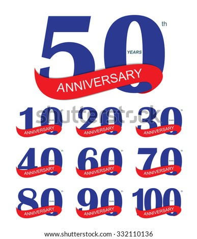 Template 50th Anniversary Vector Illustration EPS10 - stock vector