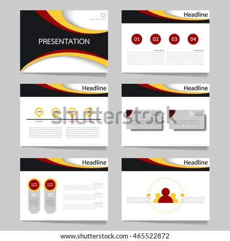 horizontal brochure template - yellow grey elements infographics on white lager vektor