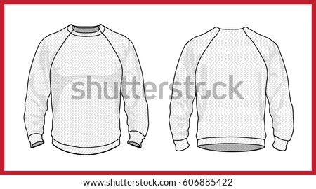 template vector illustration of a blank basic jersey sweater pullover