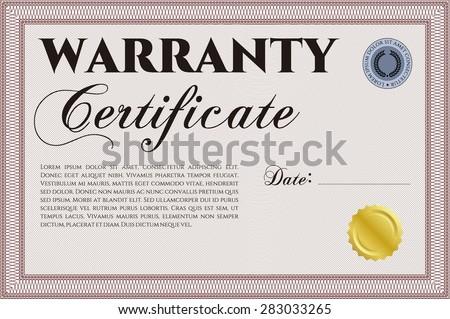 Template warranty certificate complex design retro stock vector template warranty certificate complex design retro design easy to print yadclub Gallery