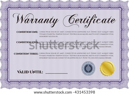Guarantee certificate format image collections certificate template warranty certificate superior design quality stock vector template warranty certificate superior design with quality background yelopaper Choice Image