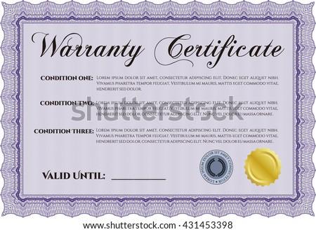 Template warranty certificate superior design quality stock photo template warranty certificate superior design with quality background border frame yadclub Gallery
