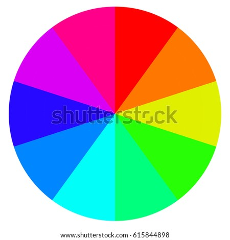 template wheel fortune color palette vector stock vector 615844898, Powerpoint templates