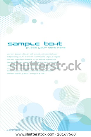 template with abstract background - stock vector
