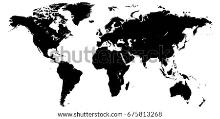 Template world map planet earth silhouettes stock vector hd royalty template world map planet earth silhouettes of continents and islands vector high detail gumiabroncs Image collections