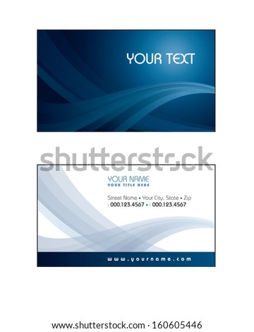 Templates for Business Card. - stock vector