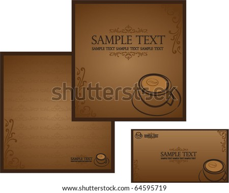 Templates for corporate style for cafe or shop - stock vector