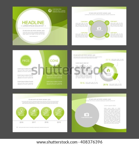 Templates for leaflet,flyer,presentation,advertising,web,marketing and infographics. Business infographics set. Vector illustrations. green version - stock vector
