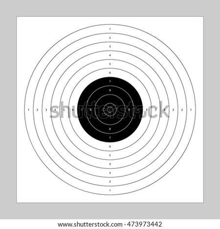 bullseye template printable - made paper target icon sight sniper stock photo 570666850