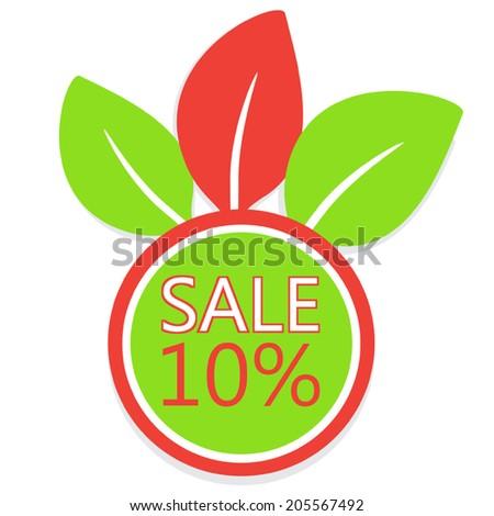 Ten Percent Off Sale Icon - stock vector