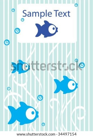 Tender background with fish and place for text - stock vector
