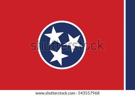 Tennessee State Flag, USA. Vector Format