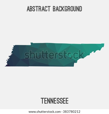 Tennessee State Map In Geometric Polygonal Style Abstract Tessellation Modern Design Background Vector