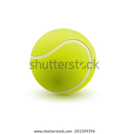 Tennis ball, eps10 vector