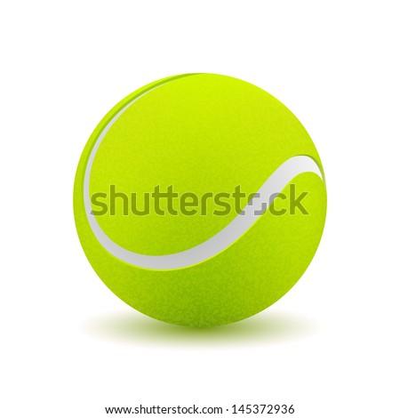 Tennis ball on white background. Vector illustration - stock vector
