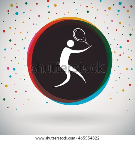 Tennis - Colorful icon and sports background