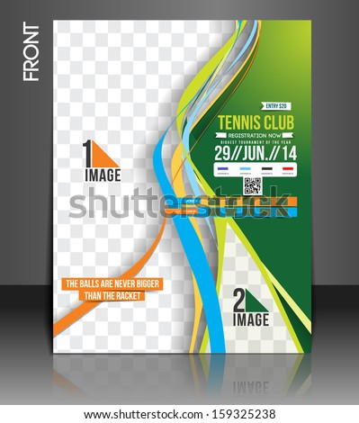 Tennis Competition Front Flyer Template  Competition Flyer Template