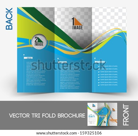 Tennis Competition Tri-Fold Brochure Mock up Design  - stock vector
