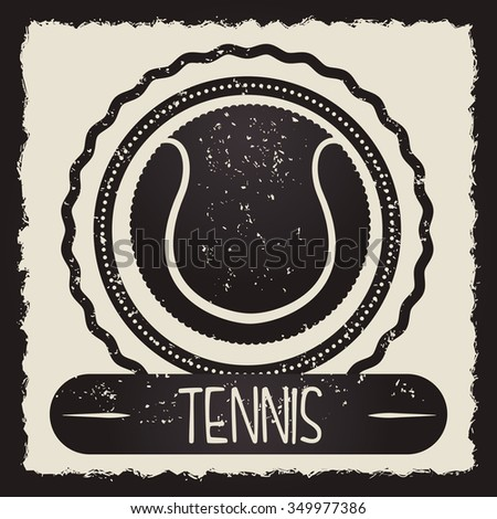 Tennis concept with sport icons design, vector illustration 10 eps graphic.