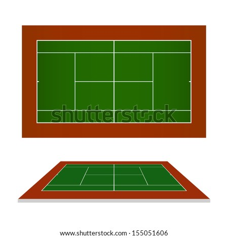 Tennis court - Vector illustration - stock vector
