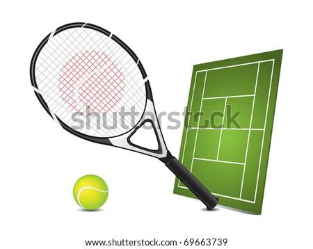 Tennis design elements - stock vector