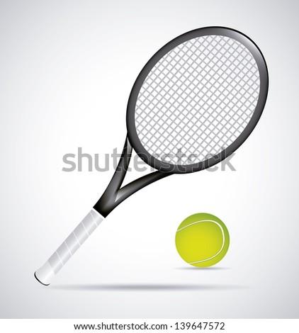 tennis design over vintage background vector illustration - stock vector
