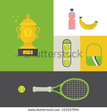 Tennis equipment  - stock vector
