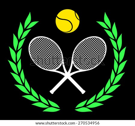 Tennis icon vector - stock vector