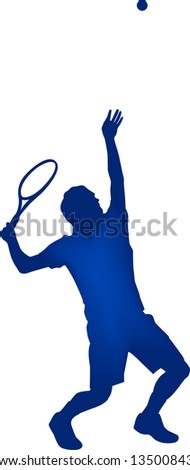 Tennis player - stock vector