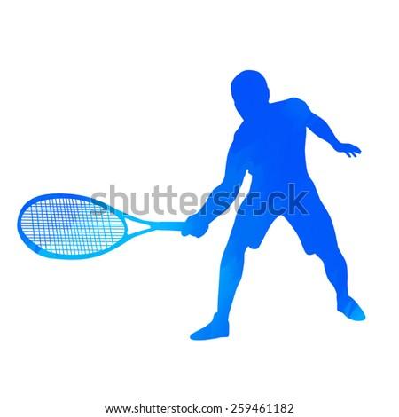 Tennis player - stock vector