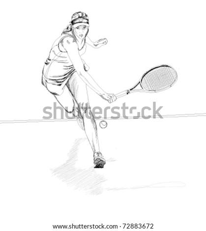 Tennis player. - stock vector