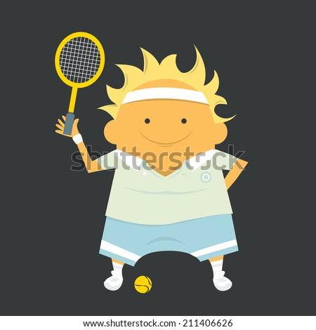 Tennis player, sportsman - stock vector