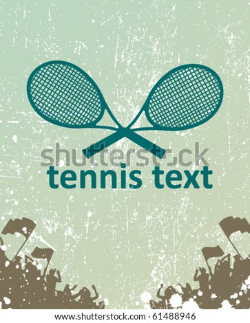 tennis poster - stock vector