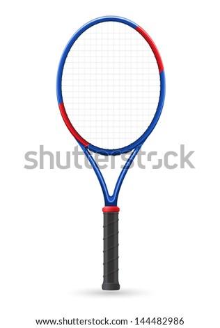 tennis racket vector illustration - stock vector