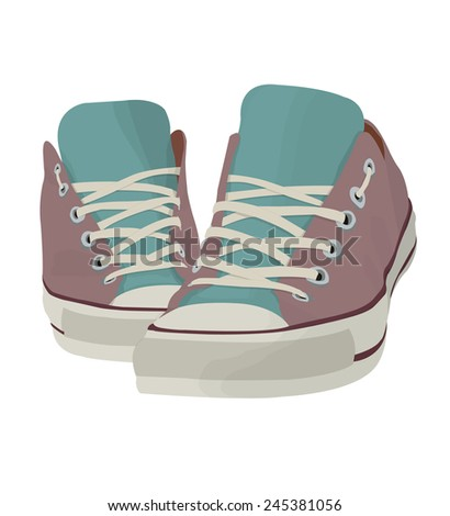 tennis shoes - stock vector