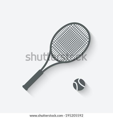 tennis sport icon - vector illustration. eps 10 - stock vector