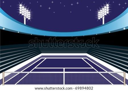 tennis stadium - stock vector
