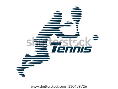 Tennis vector - stock vector