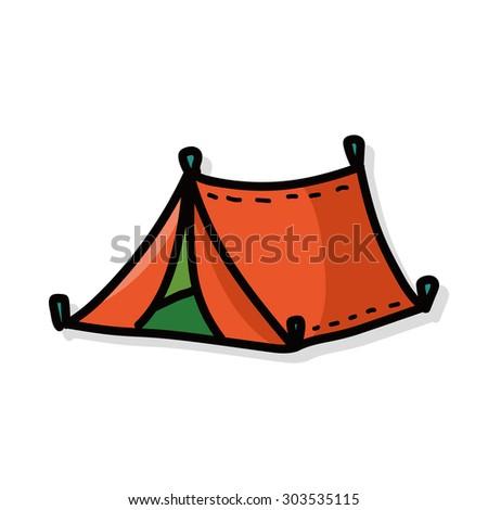 tent color doodle  sc 1 st  Shutterstock & Tent Color Doodle Stock Vector 303535115 - Shutterstock