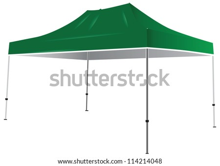 Tent from the weather and sun. Vector illustration.