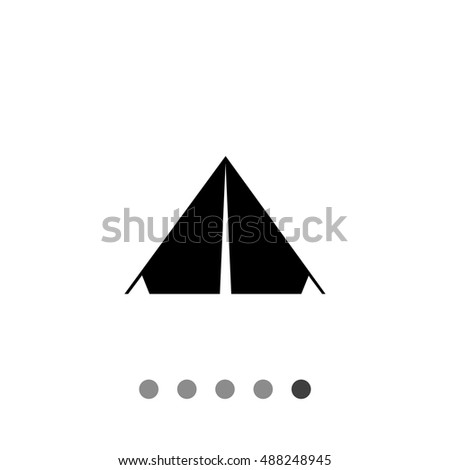 Tent simple icon  sc 1 st  Shutterstock & Tent Simple Icon Stock Vector 488248945 - Shutterstock
