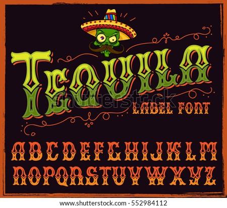 latin style font - photo #24