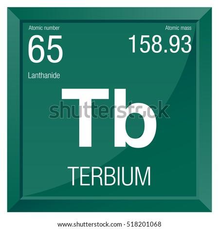 Terbium symbol element number 65 periodic stock vector 518201068 terbium symbol element number 65 of the periodic table of the elements chemistry urtaz Images