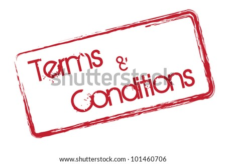 Terms and conditions text symbol on white background - stock vector