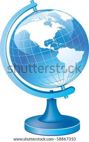 Terrestrial globe - stock vector